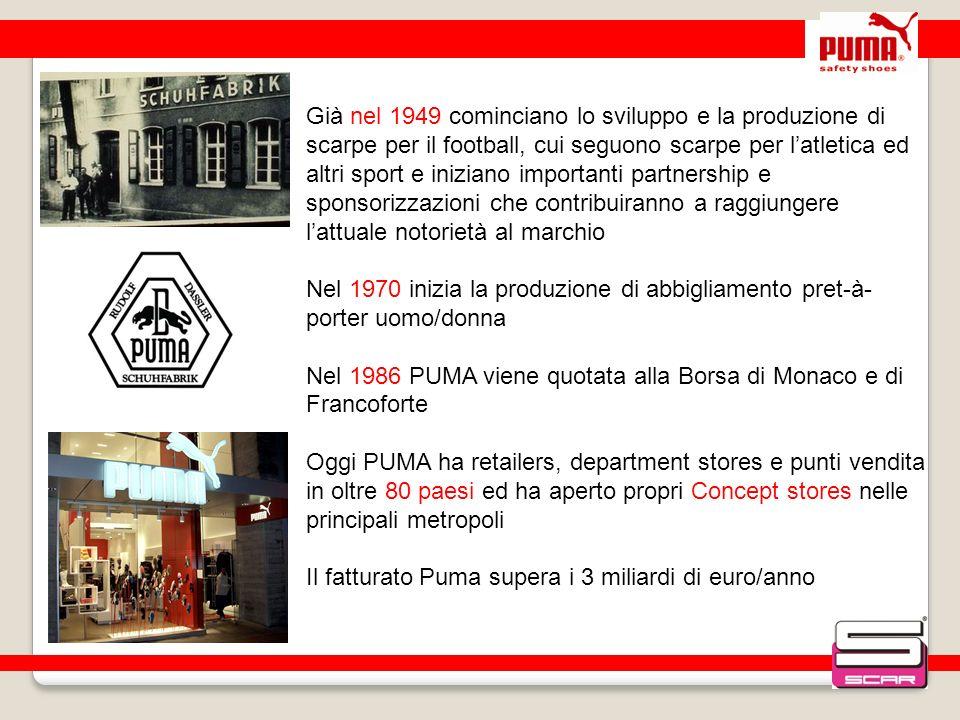 Nel 1986 PUMA viene quotata alla Borsa di Monaco e di Francoforte