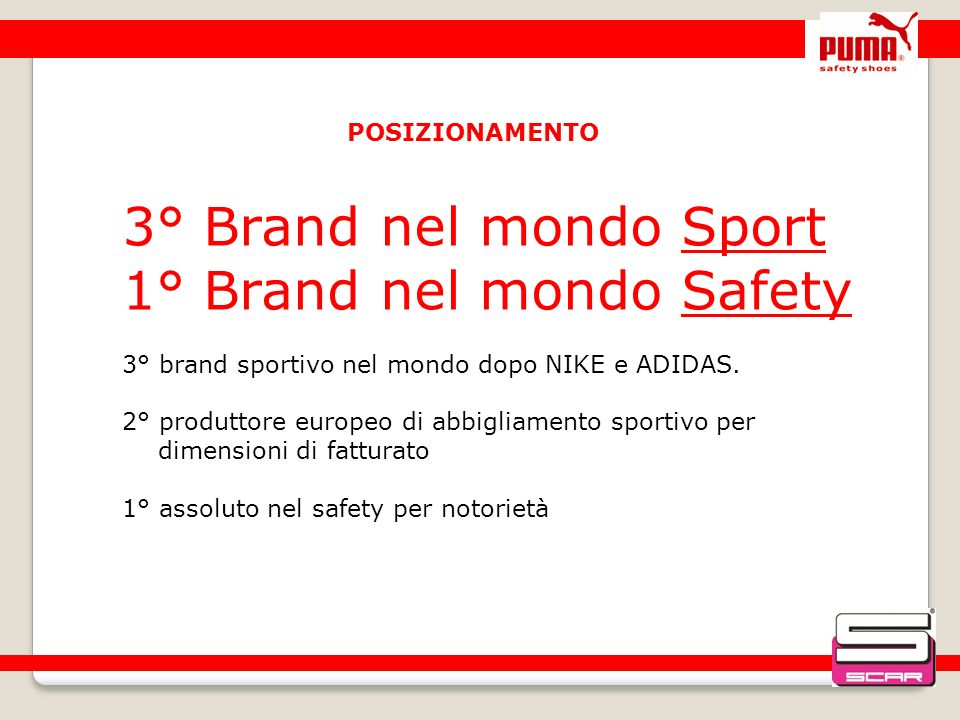 1° Brand nel mondo Safety