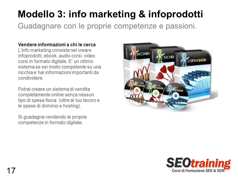 Modello 3: info marketing & infoprodotti