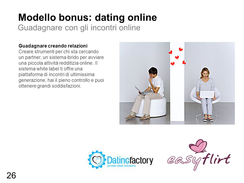 Modello bonus: dating online