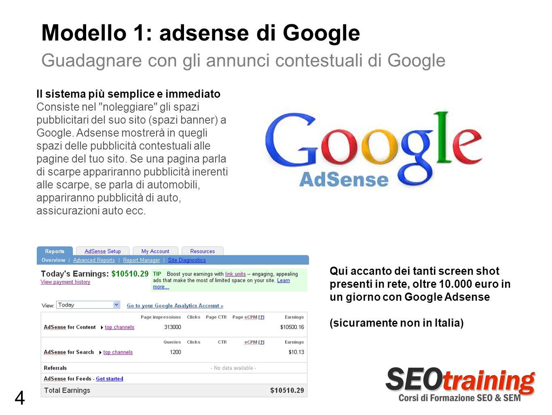 Modello 1: adsense di Google