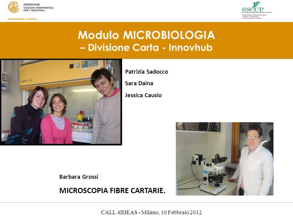 Modulo MICROBIOLOGIA – Divisione Carta - Innovhub