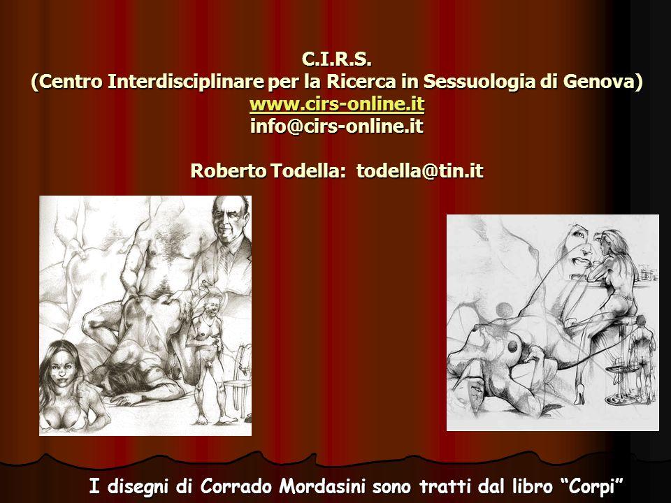 I disegni di Corrado Mordasini sono tratti dal libro Corpi