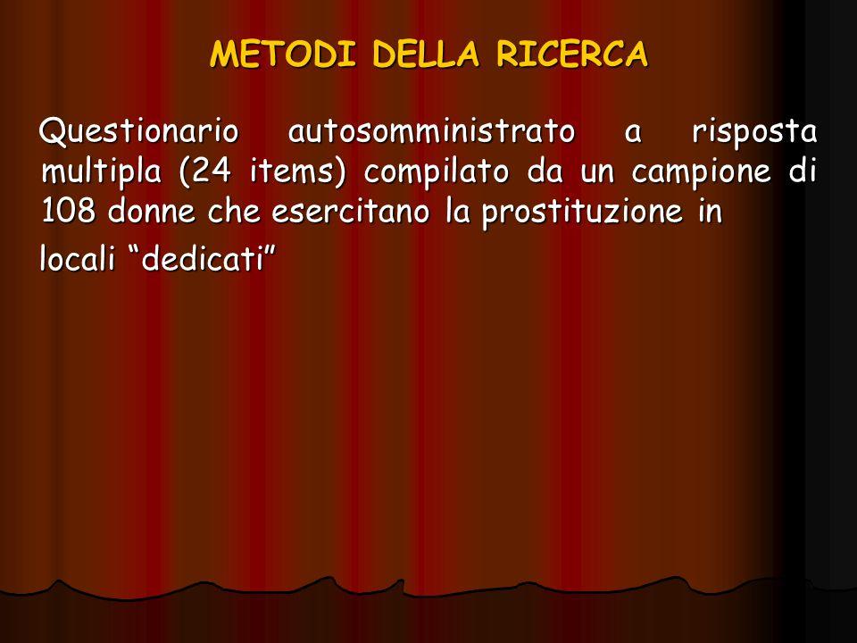 METODI DELLA RICERCA