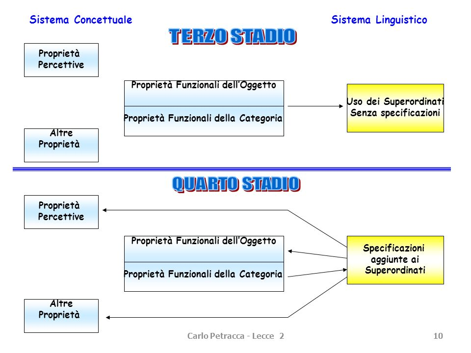 Sistema Concettuale Sistema Linguistico