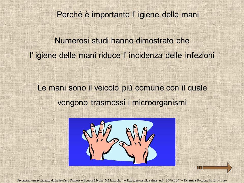 Perché è importante l' igiene delle mani