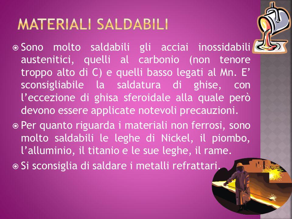 MATERIALI SALDABILI
