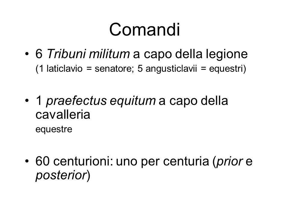 Comandi 6 Tribuni militum a capo della legione
