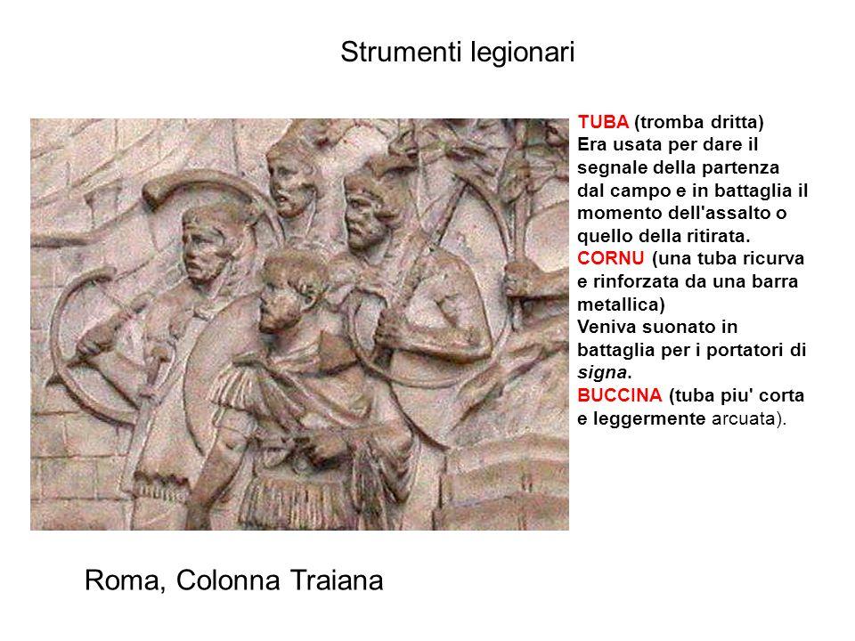Strumenti legionari Roma, Colonna Traiana TUBA (tromba dritta)