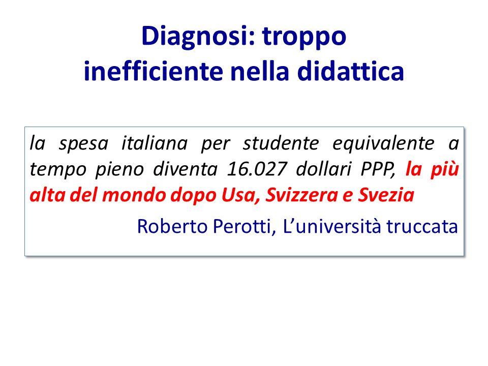 Diagnosi: troppo inefficiente nella didattica