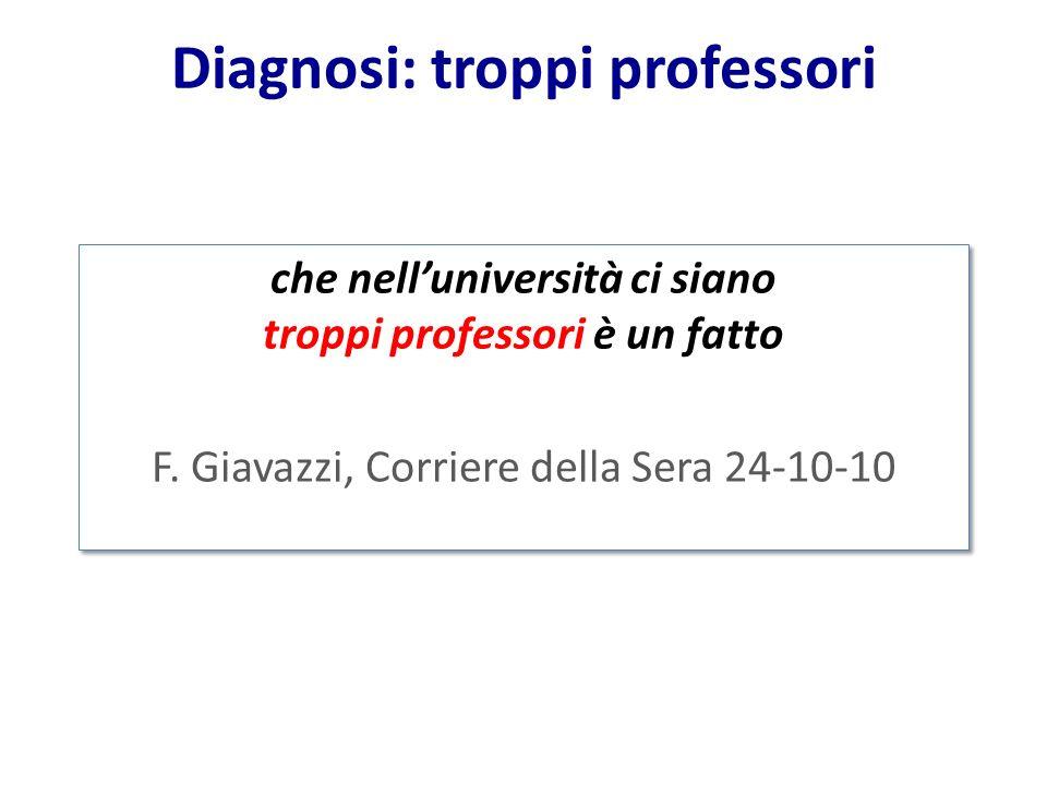 Diagnosi: troppi professori
