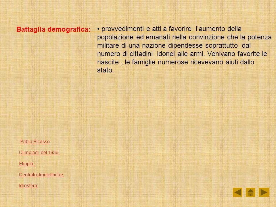 Battaglia demografica: