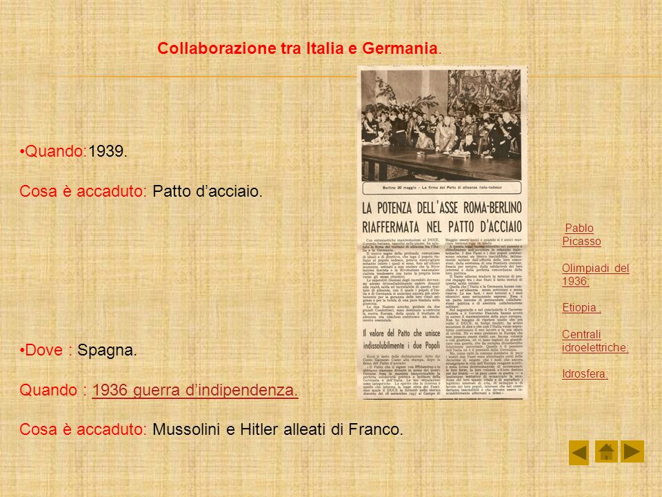 Collaborazione tra Italia e Germania.