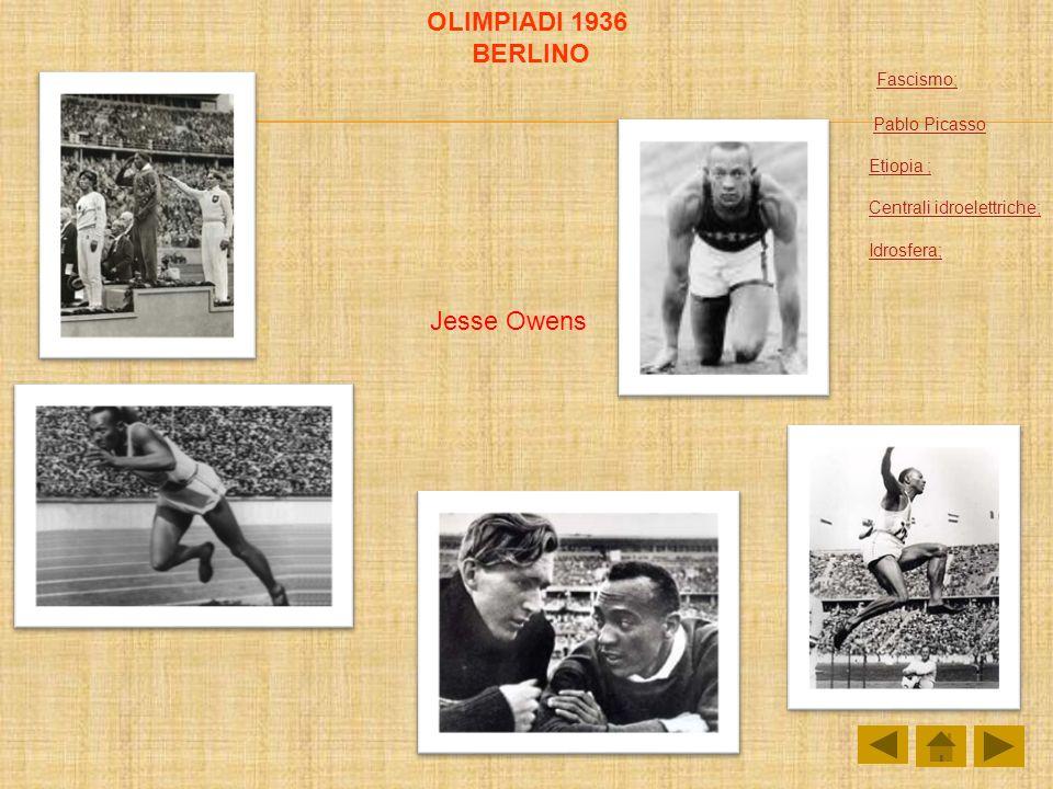 OLIMPIADI 1936 BERLINO Fascismo; Jesse Owens Pablo Picasso Etiopia ;