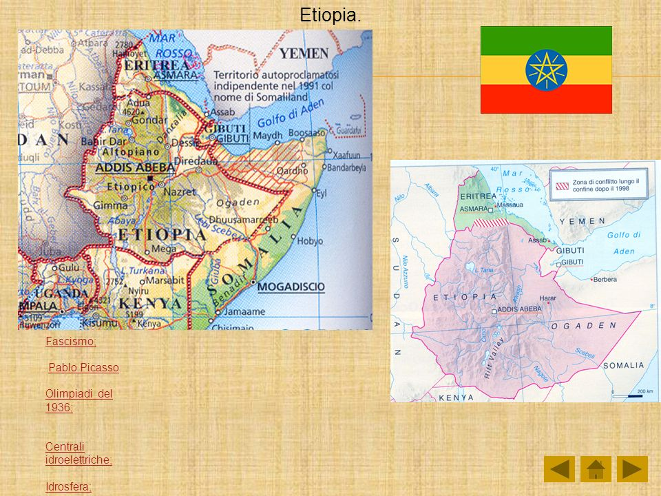 Etiopia. Fascismo; Pablo Picasso Olimpiadi del 1936;