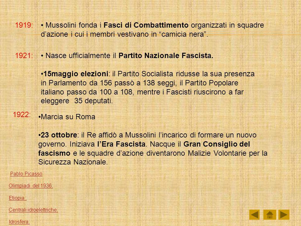 Nasce ufficialmente il Partito Nazionale Fascista.