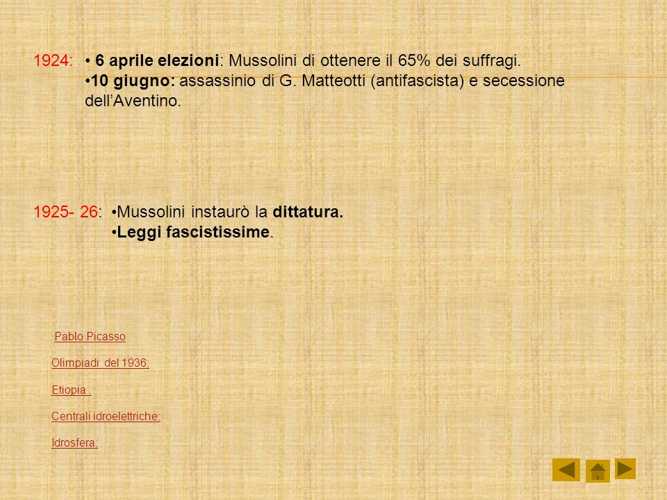 6 aprile elezioni: Mussolini di ottenere il 65% dei suffragi.
