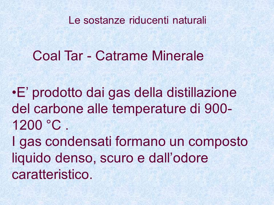 Coal Tar - Catrame Minerale