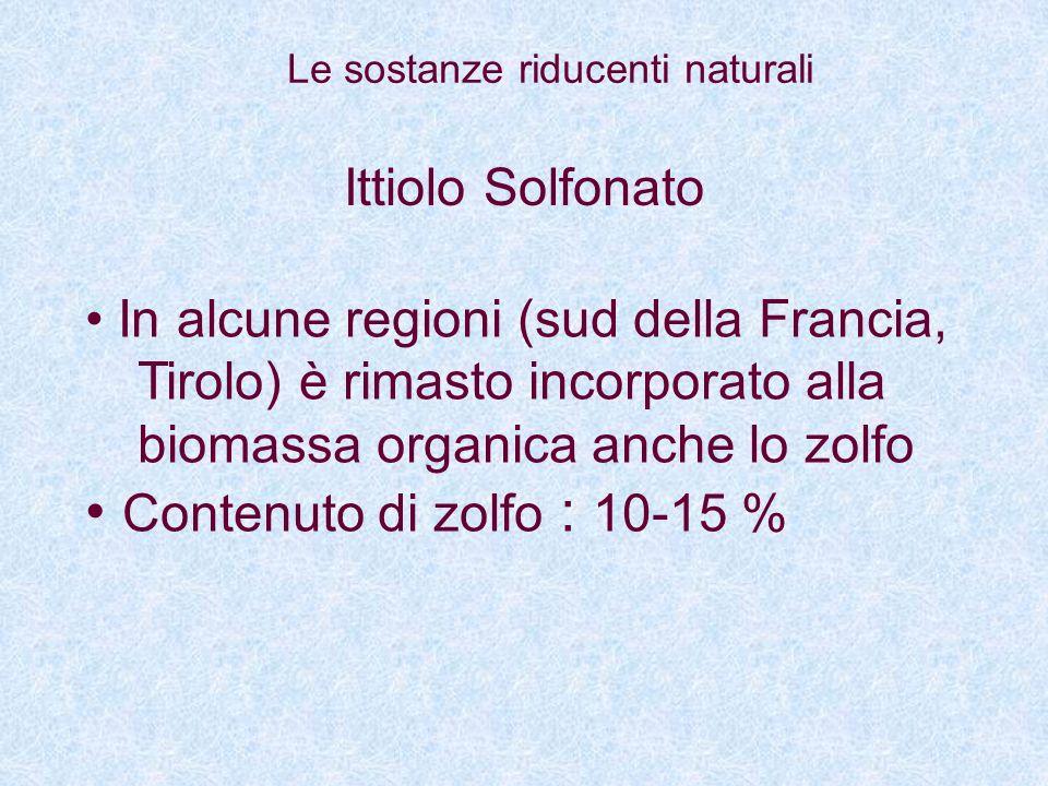 Contenuto di zolfo : 10-15 % Ittiolo Solfonato