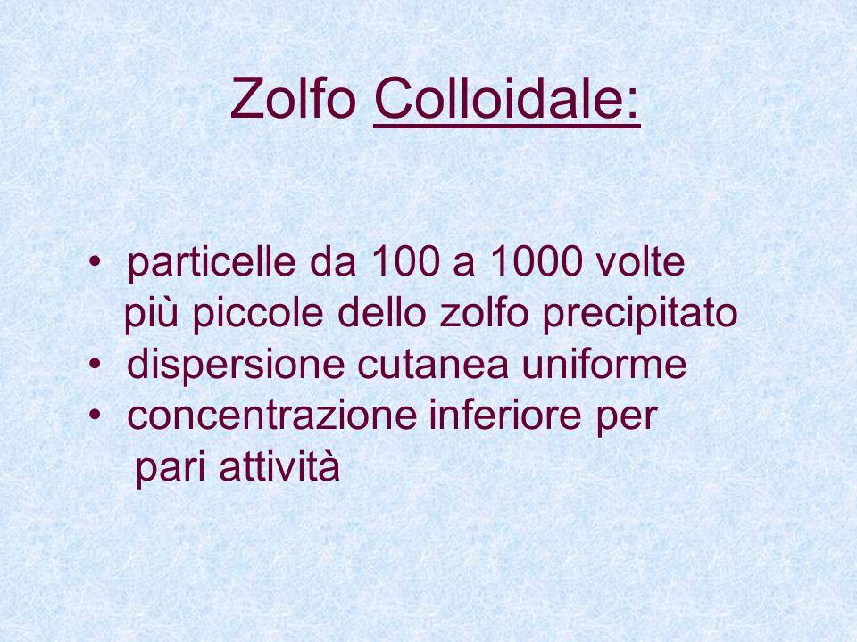 Zolfo Colloidale: particelle da 100 a 1000 volte
