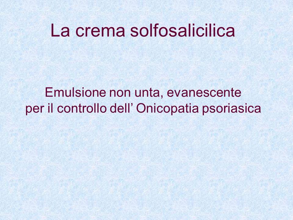 La crema solfosalicilica