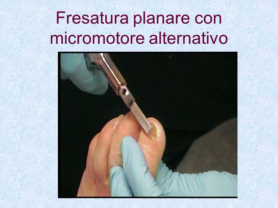 Fresatura planare con micromotore alternativo