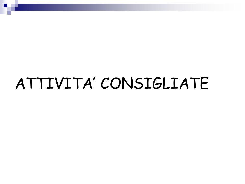 ATTIVITA' CONSIGLIATE