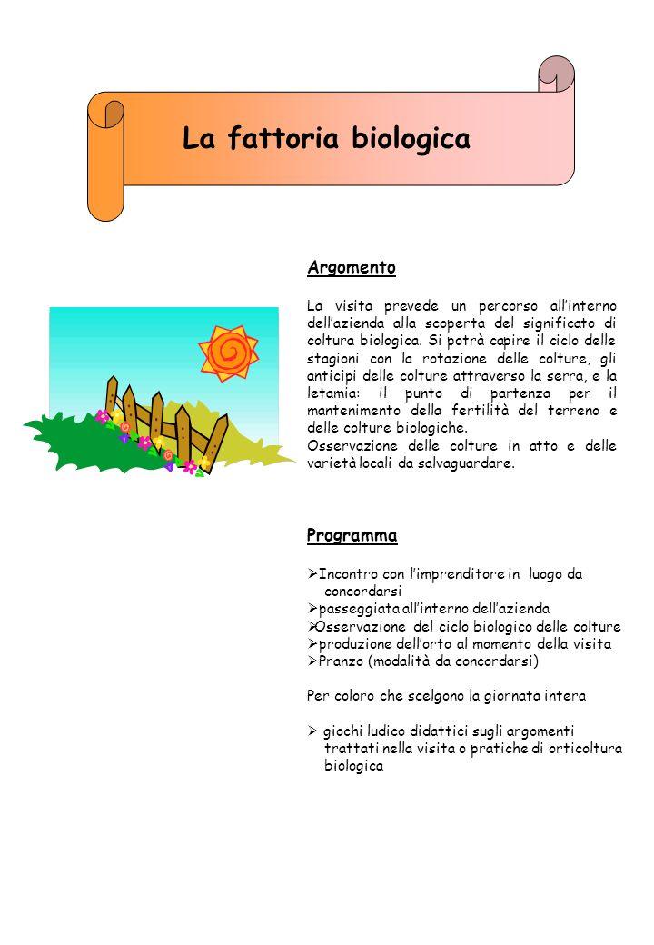 La fattoria biologica Argomento Programma