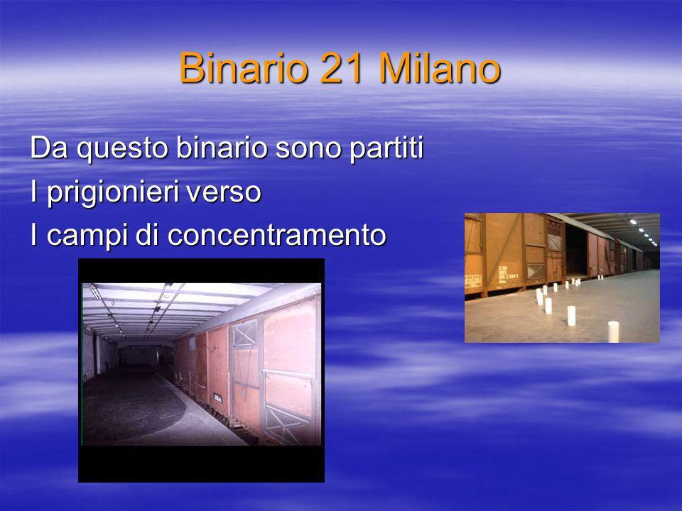 Binario 21 Milano Da questo binario sono partiti I prigionieri verso