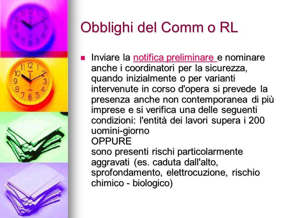 Obblighi del Comm o RL
