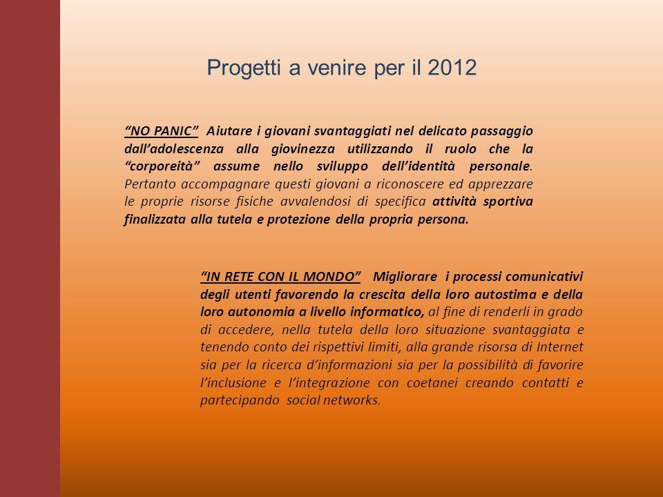 Progetti a venire per il 2012