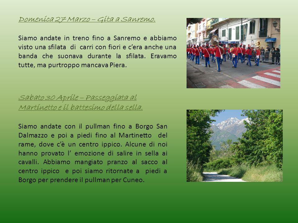 Domenica 27 Marzo – Gita a Sanremo.