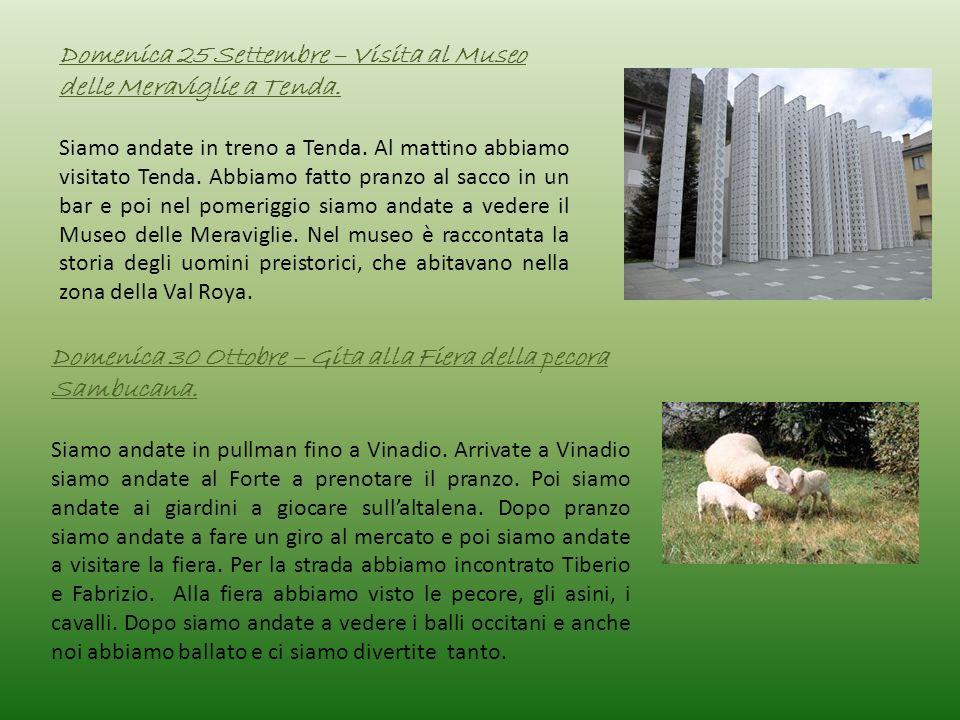 Domenica 25 Settembre – Visita al Museo delle Meraviglie a Tenda.