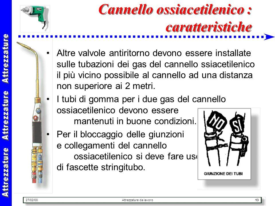 Cannello ossiacetilenico : caratteristiche
