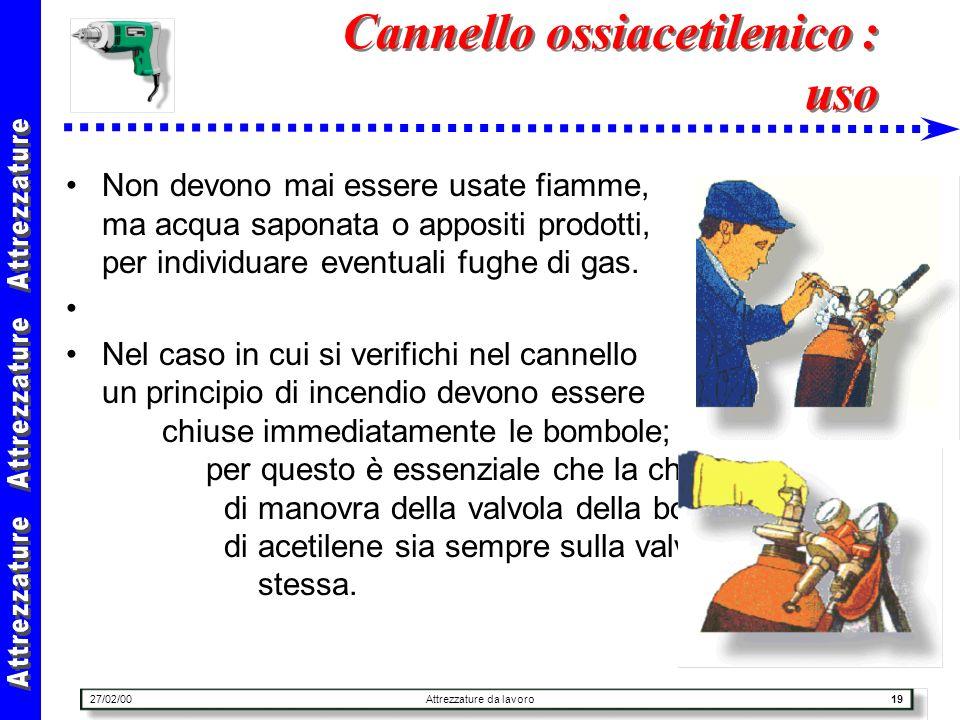 Cannello ossiacetilenico : uso