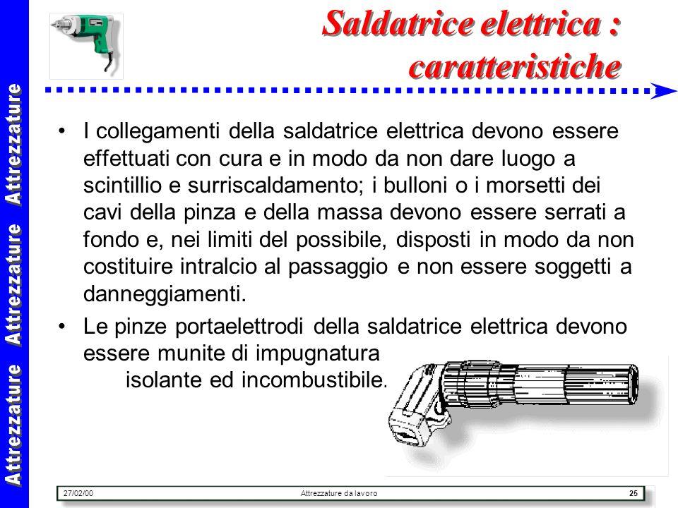 Saldatrice elettrica : caratteristiche