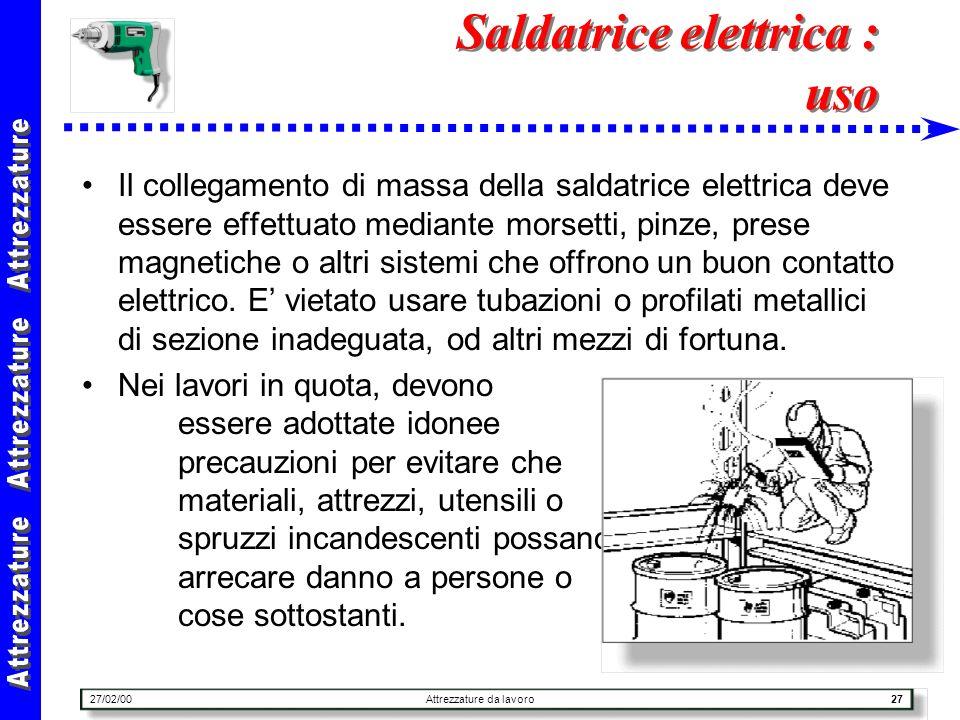 Saldatrice elettrica : uso