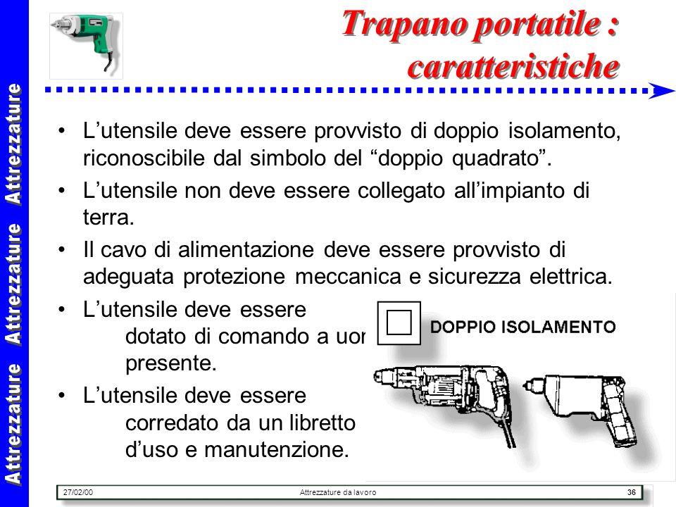 Trapano portatile : caratteristiche