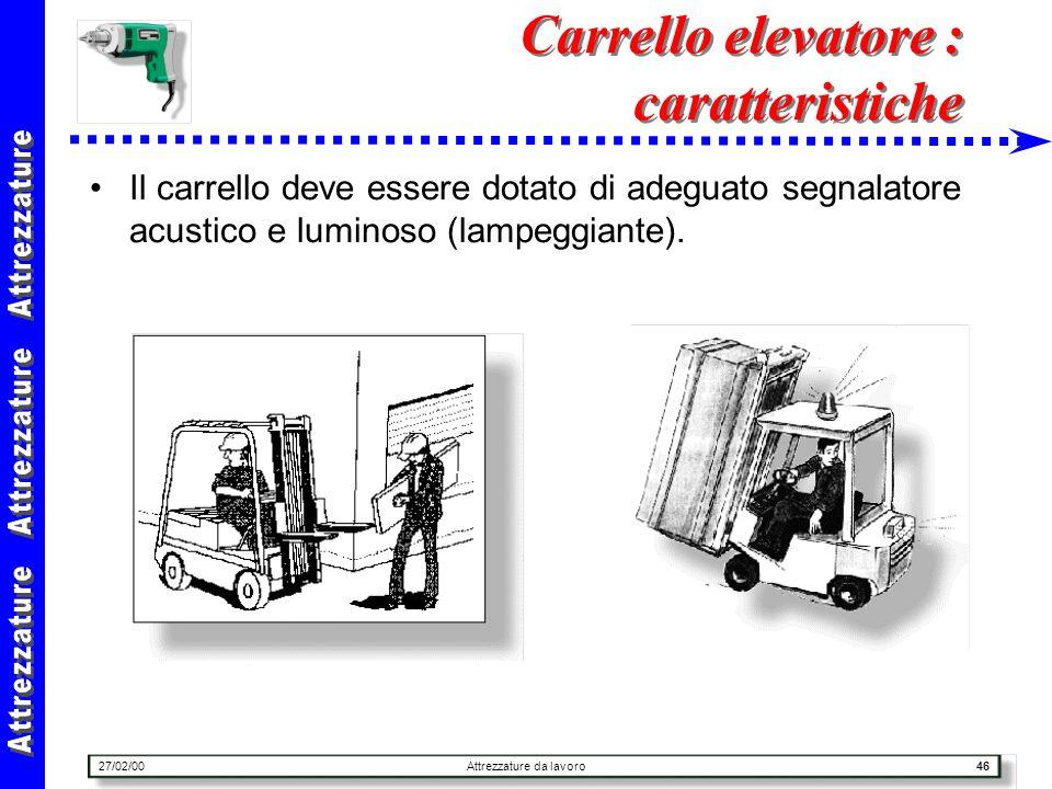 Carrello elevatore : caratteristiche