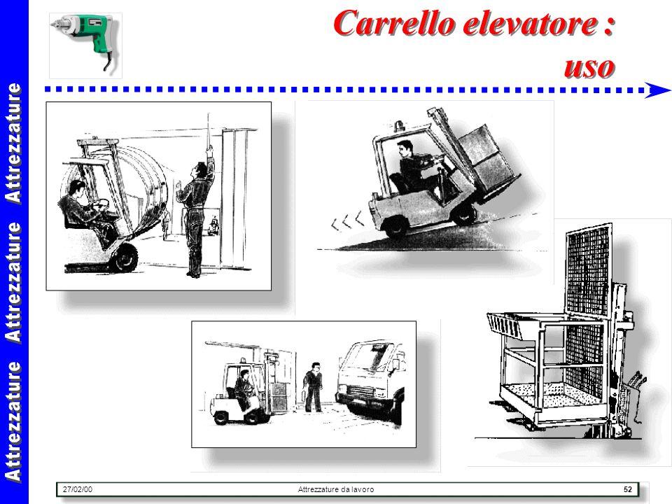 Carrello elevatore : uso