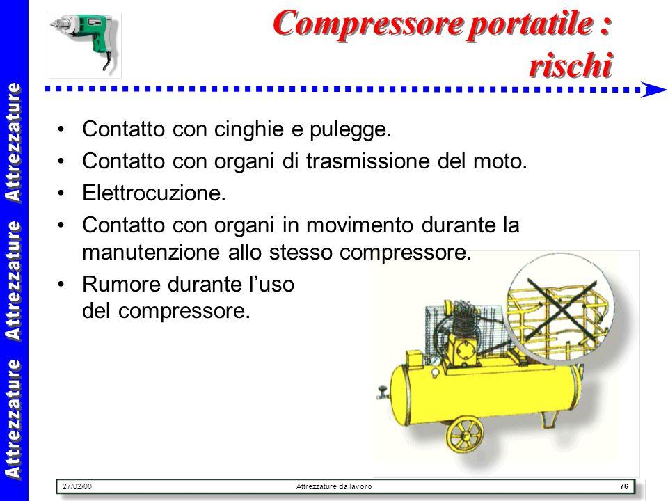 Compressore portatile : rischi