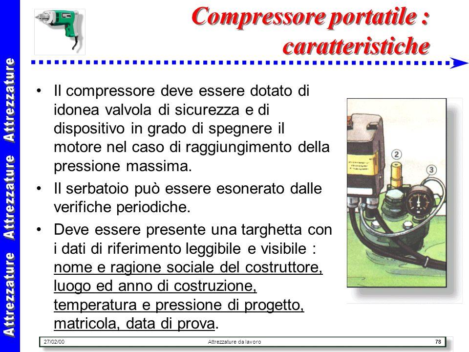 Compressore portatile : caratteristiche
