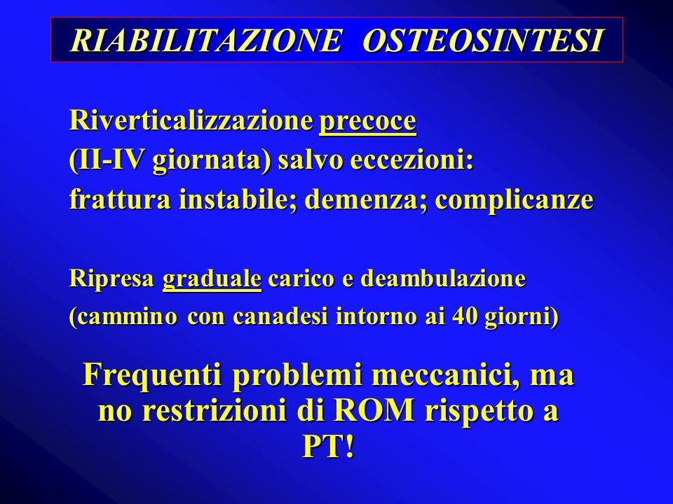 RIABILITAZIONE OSTEOSINTESI