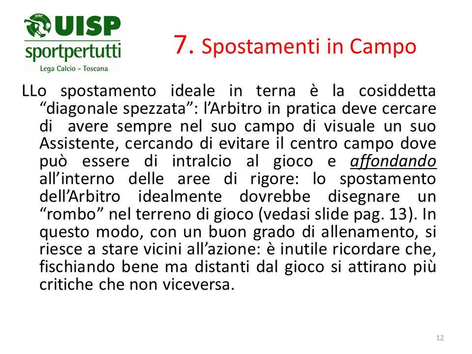 7. Spostamenti in Campo