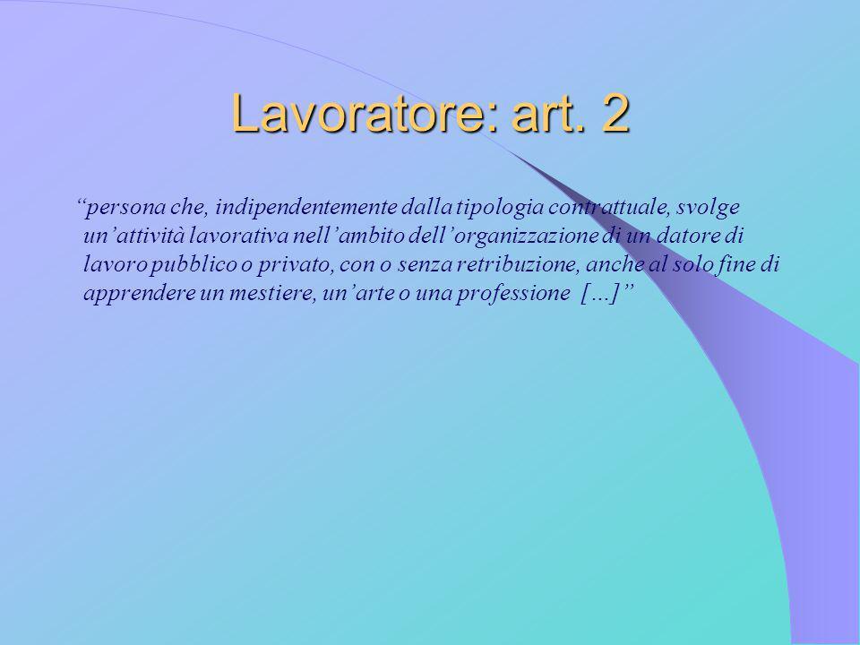 Lavoratore: art. 2
