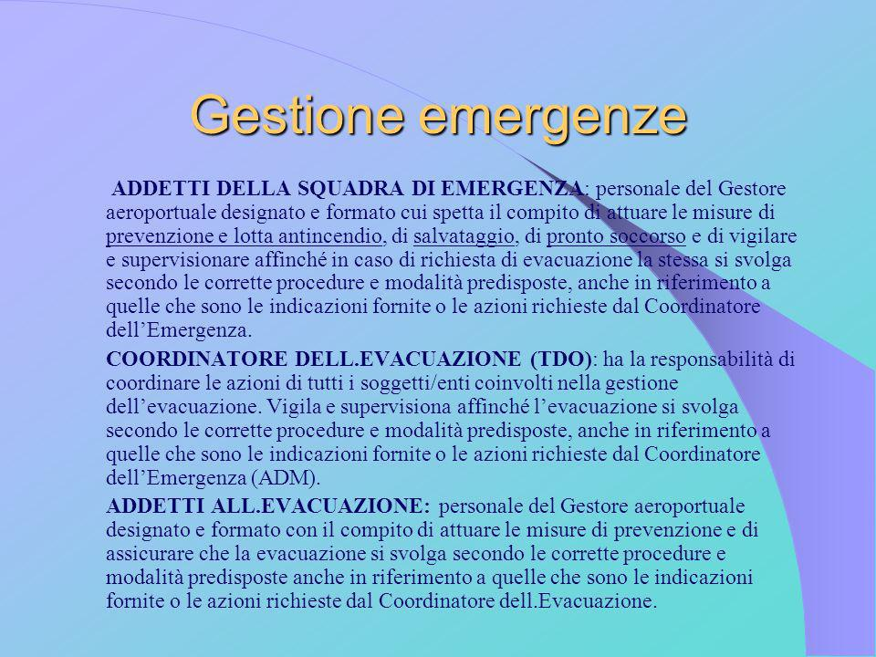 Gestione emergenze