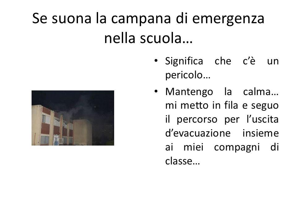 Se suona la campana di emergenza nella scuola…