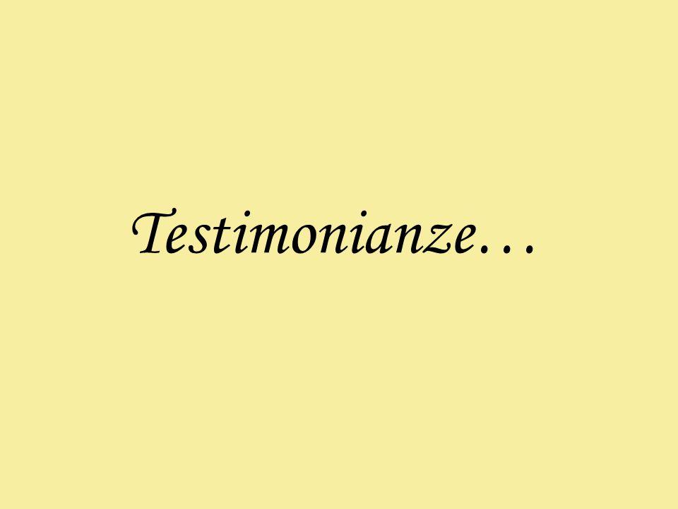 Testimonianze…