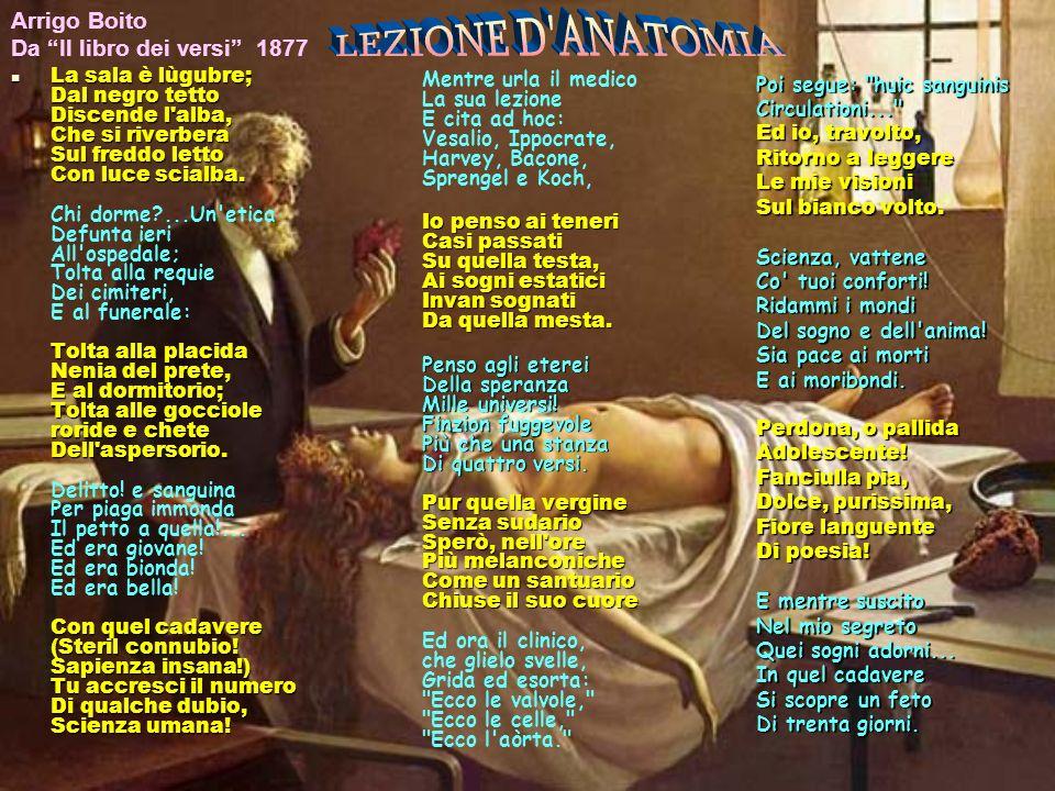 LEZIONE D ANATOMIA Arrigo Boito Da Il libro dei versi 1877