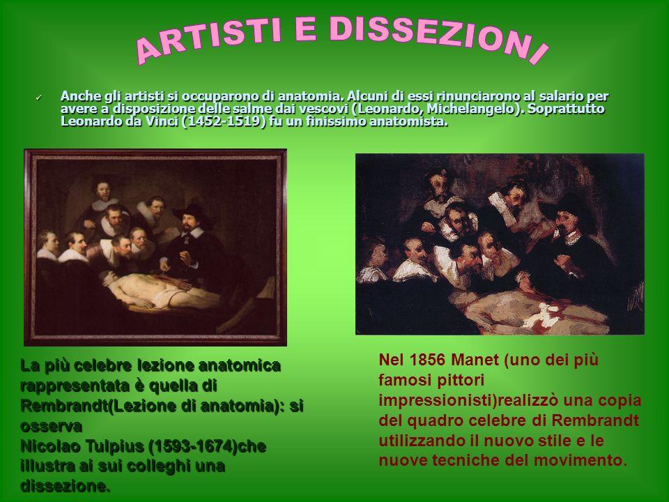 ARTISTI E DISSEZIONI
